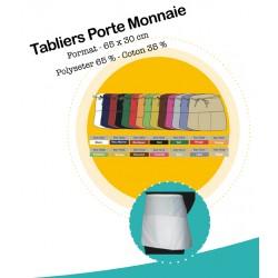 TABLIER PORTE MONNAIE NOIR