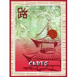 PORTE MENUS CHINE 6 POCHETTES